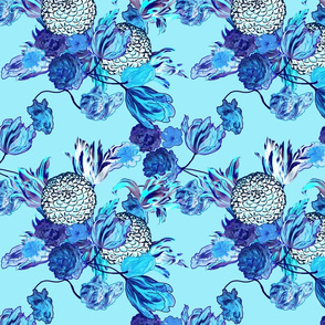 Blueming Flowers! ~ Turquoise ~ Small