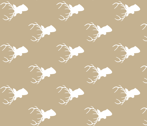 Tan Deer Silhouette 90 deg fabric by mrshervi on Spoonflower - custom fabric