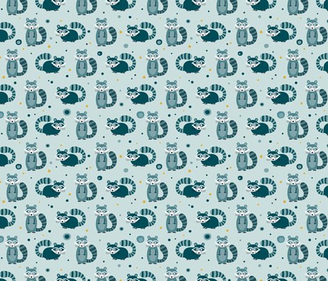 Raccoon fabric by la_fabriken on Spoonflower - custom fabric