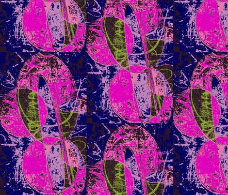 Writing on the Wall / multi fabric by menny on Spoonflower - custom fabric