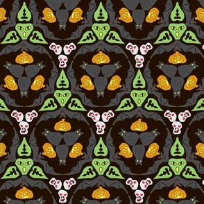 Bats, Cats, and Jacks on Black