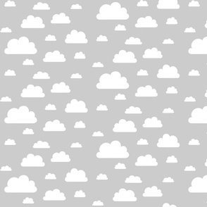 Clouds; white on grey