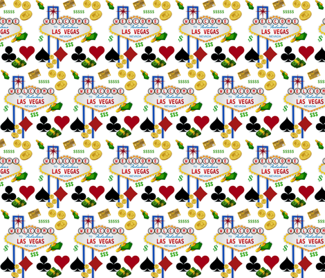 FABULOUS LAS VEGAS fabric by bluevelvet on Spoonflower - custom fabric