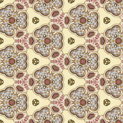 Petit Trianon ~ Swag Blossom fabric by peacoquettedesigns on Spoonflower - custom fabric