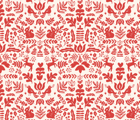 Holiday Folk Art fabric by shelbyallison on Spoonflower - custom fabric