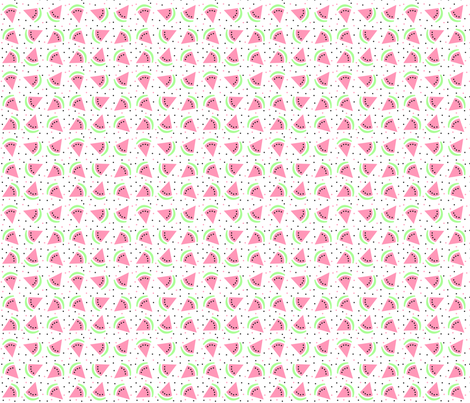 Watermelon Pink and Green fabric by mspiggydesign on Spoonflower - custom fabric