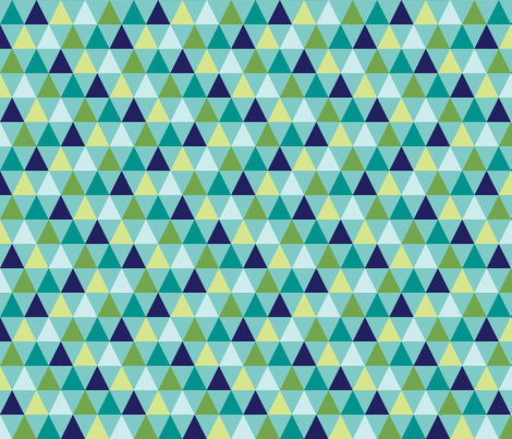 Hip Triangles (Ocean) fabric by brendazapotosky on Spoonflower - custom fabric