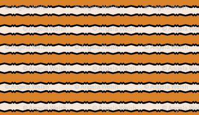 Mid Century Modern - Tangerine Wiggle