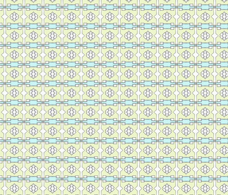 Pen and Ink - Aqua Squares Mini Coordinate fabric by pange on Spoonflower - custom fabric