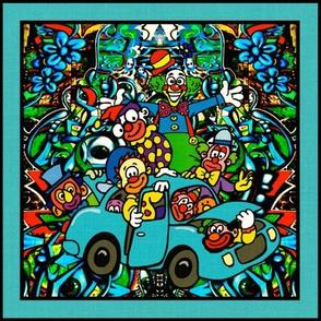 A Gaggle of Clowns in a Little Car