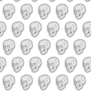 Black and White Sugar Skull Sketch - smaller