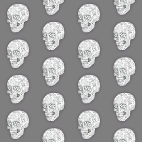 Sugar Skull Sketch in Gray