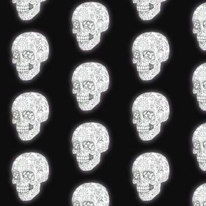 Sugar Skull Sketch in black