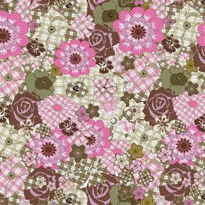 pip pattern pink/brown