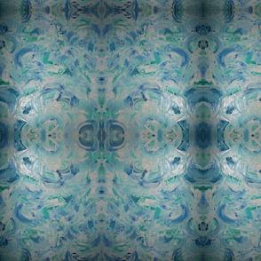 Blue Swirl Bubble Design