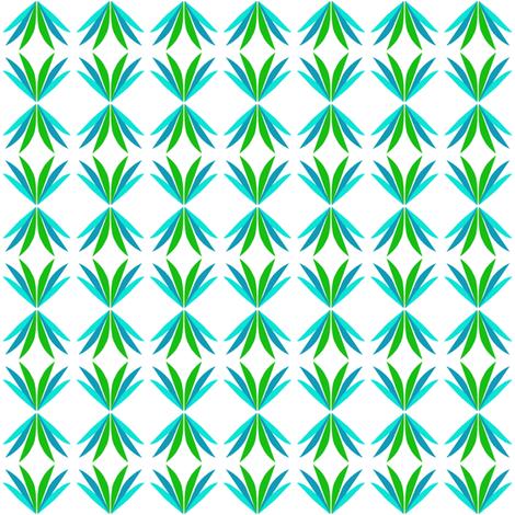 Aqua Diamonds fabric by eve_catt_art on Spoonflower - custom fabric