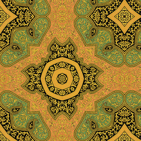 Osmanli ~ Asul  fabric by peacoquettedesigns on Spoonflower - custom fabric