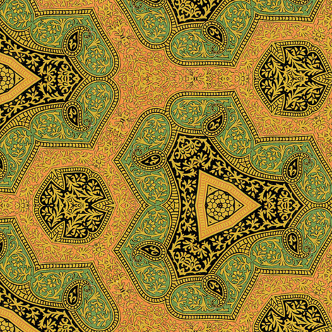 Osmanli ~ Behiye  fabric by peacoquettedesigns on Spoonflower - custom fabric
