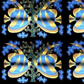 Moorish idol Zanclus cornutus crowned scythe fishes coral reefs sea weeds ocean sea water butterflyfish butterfly antenna aquarium folk art tribal marine
