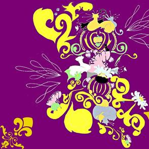 le petite chat violet