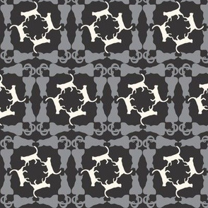 Cat Square Dance grey_black_creme_a