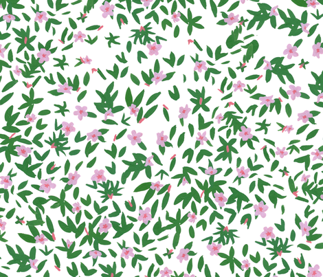 pink flora fabric by mayabeeillustrations on Spoonflower - custom fabric
