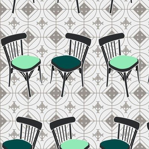 Retro bistrot chairs (blue)
