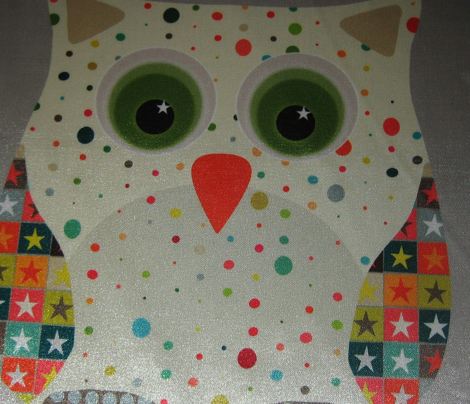 retro christmas owl swatch