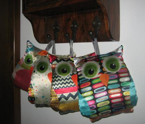 retro christmas owl swatch