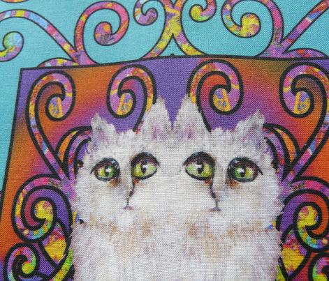 CAT DAMASK TURQUOISE