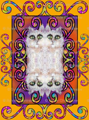 CAT DAMASK SUNNY YELLOW