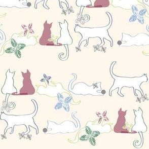 Cats at Play_creme