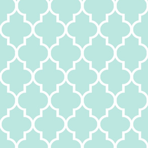 Mint Quatrefoil to Match Magenta Paeonia