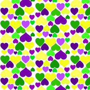MARDI GRAS HEARTS