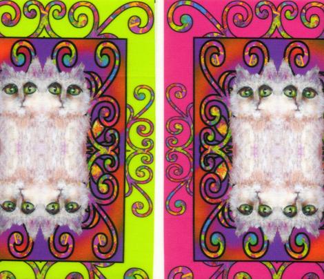 CAT DAMASK LUMINOUS GREEN