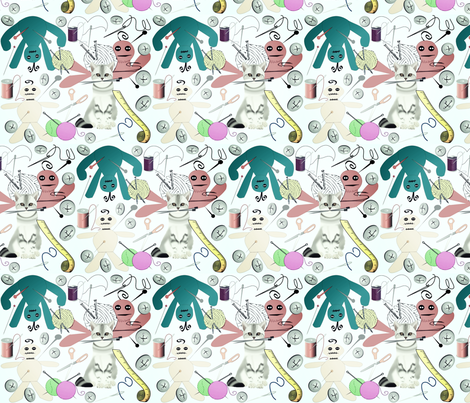 YOU DO VOODOO fabric by bluevelvet on Spoonflower - custom fabric