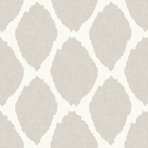 Oval Ikat in Warm Gray Linen fabric by willowlanetextiles on Spoonflower - custom fabric