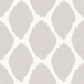 Oval Ikat in Warm Gray Linen