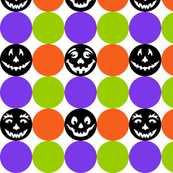 Halloween Dots in Black, Orange, Purple, and Green