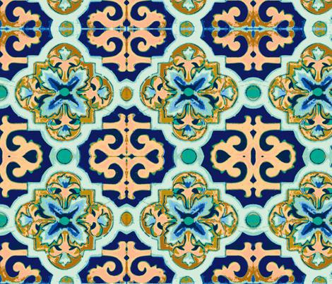 Mediterranean Sun and Sea fabric by walkwithmagistudio on Spoonflower - custom fabric