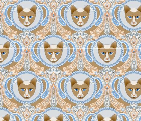 Lili Cat 2 fabric by kimberly_guccione on Spoonflower - custom fabric