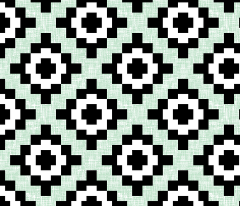 (NOW 100% BIGGER) Pale green mint weave geometric West by Southwest by Su_G fabric by su_g on Spoonflower - custom fabric