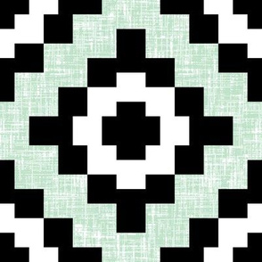 (NOW 100% BIGGER) Pale green mint weave geometric West by Southwest by Su_G