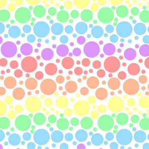 Pastel Rainbow Dots - Large