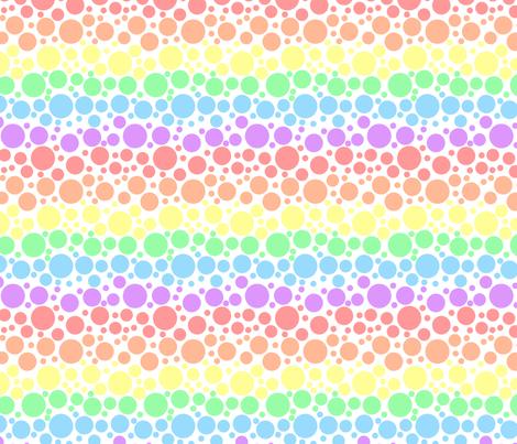 Pastel Rainbow Dots - Small fabric by joyfulrose on Spoonflower - custom fabric