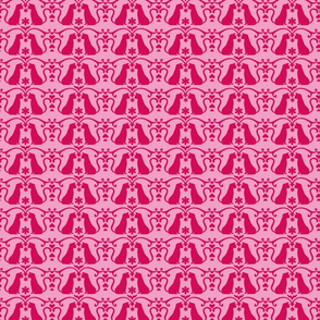 Cat Damask Pink