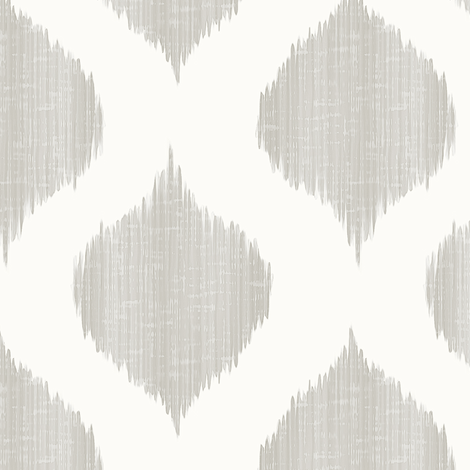 Lela Ikat in Warm Cashmere fabric by willowlanetextiles on Spoonflower - custom fabric