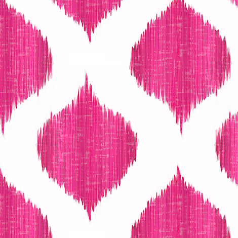 Lela Ikat in Fuchsia fabric by willowlanetextiles on Spoonflower - custom fabric