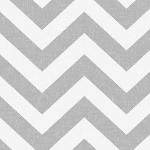 Gray Linen Chevron