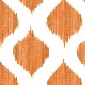 Lela Ikat in Tangerine